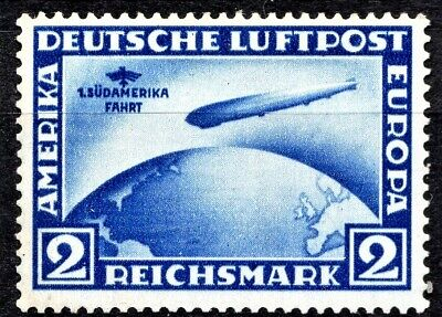 GERMANY 1930 2m ZEPPELIN S. AMERICA - MINT SMALL GUM DISRUPT - SCAN + PIC