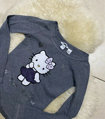 H&m Girls Long Sleeved Hello Kitty Top Age 11-12