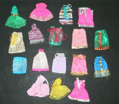 Vintage Doll Dawn Lot Mini Dresses Topper 1970s Small Dale Angie Glori Longlocks