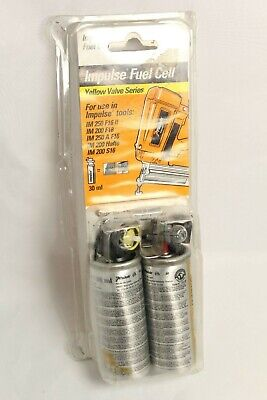 Paslode Impulse Fuel Cell 30ml x2 IM65 IM50 IM200 IM250 Out of Date NEW Yellow