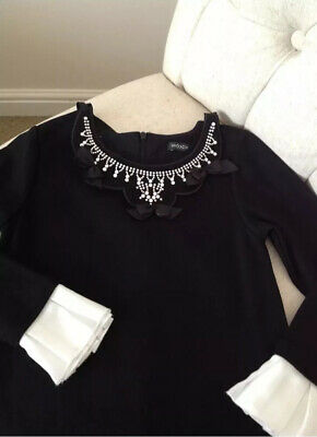 Girls MonnaLisa necklace Black Dimond