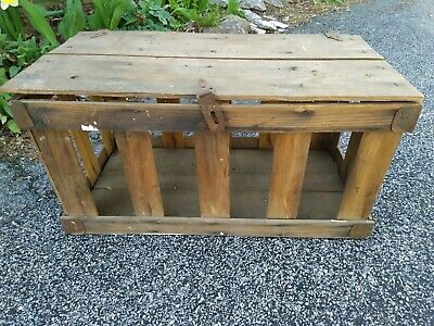 "Vintage Wooden Strawberry Shipping Crate,  Tier Divider, 23""Lx12""Dx12""H"