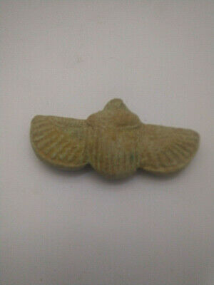 ANCIENT EGYPTIAN ANTIQUE Scarab Fly Wings Amulet 1767-1361 BC