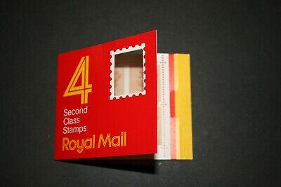 4/8/87 Royal Mail Barcode Booklet GA1 4 Second Class Stamps(13p) inscribed 10/86