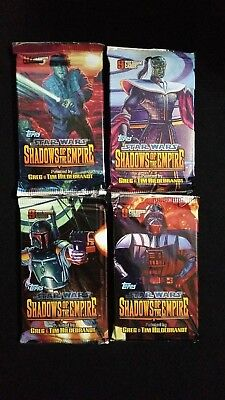 1996 Topps Star Wars Shadows Of The Empire Hobby 4  Pack Lot