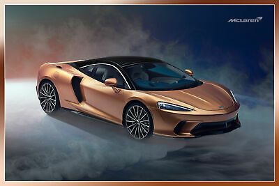 """24""""x36"""" Laminated Poster Luxury Sports Cars McLaren GT 2019"""