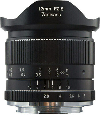 7artisans 12mm f/2.8 Manual Lens (Black) for Sony E-Mount Cameras