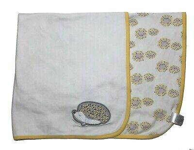 Gymboree Hedgehog Baby Blanket Porcupine Yellow White Gray Security Lovey