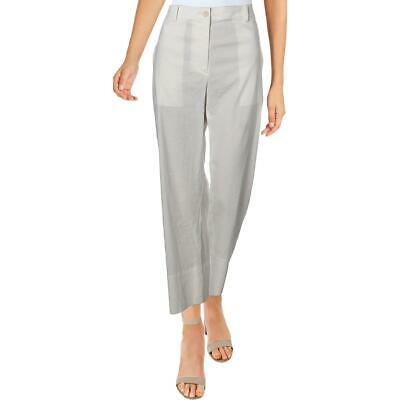 Theory Womens Fluid White Cropped Stretch Casual Ankle Pants 6 BHFO 1666