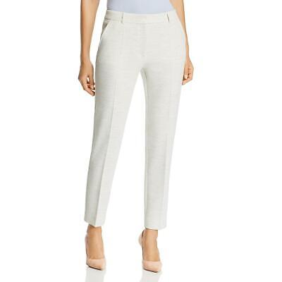Hugo Boss Womens Ivory Slim Fit Textured Office Trouser Pants 2 BHFO 7543