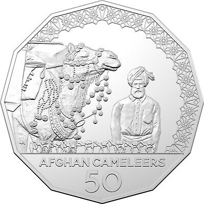 Australia 2020 Afghan Cameleers Pioneers of Inland Transport 50c UNC Coin Carded