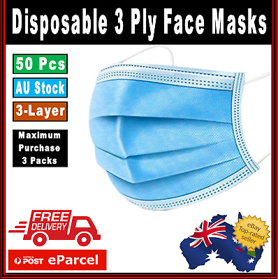 Breathe Easy Nose & Mouth mask Protection  -  50 Pack