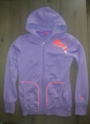 neuwertig PUMA Graphic hooded sweat jacket purple Sweatjacke Sportjacke GR 164