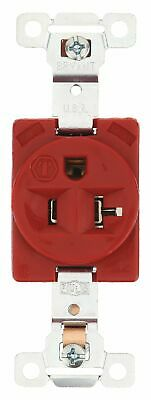 Bryant 20,  Industrial,  Receptacle,  Red,  No Tamper Resistant Red  Nylon