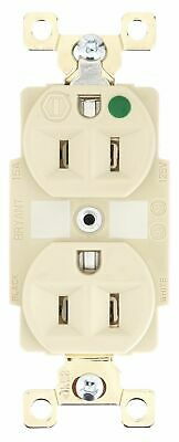 Bryant 15,  Heavy Use Hospital Grade,  Receptacle,  Ivory,  No Tamper Resistant