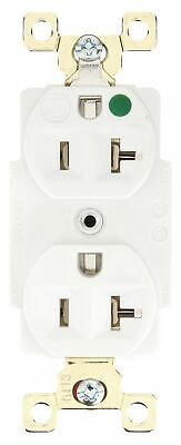 Bryant 20,  Heavy Use Hospital Grade,  Receptacle,  White,  No Tamper Resistant