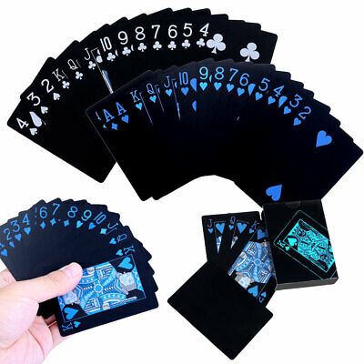 UK Waterproof Plastic Professional Playing Cards Poker Pub Game Deck