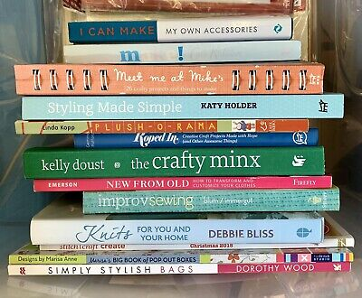 Bulk craft books new from old Kelly Doust styling knits plush-a-rama improv sew