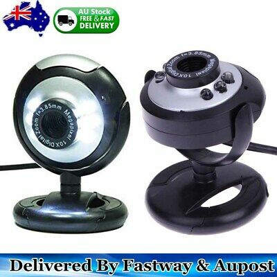 USB 2.0 Webcam 6 LED Camera XP, Vista, Windows 7 10 Skype, Yahoo, Mic Brand NEW