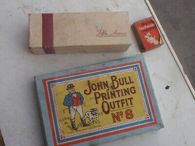 John Bull  rubber stamp  ink  printing outfit