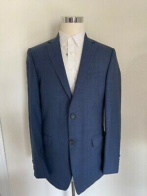 Hart Schaffner Marx 2 Button Sport Coat Blazer Jacket Blue 44L FASHION HAVE