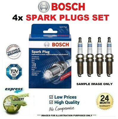 4x BOSCH SPARK PLUGS for MERCEDES BENZ S-Class Coupe 420 SEC 1986-1991