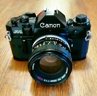 Canon A-1 35mm SLR+Canon FD 50mm/f1.4 SSC Lens-*SAFE DELIVERY AVAIL*