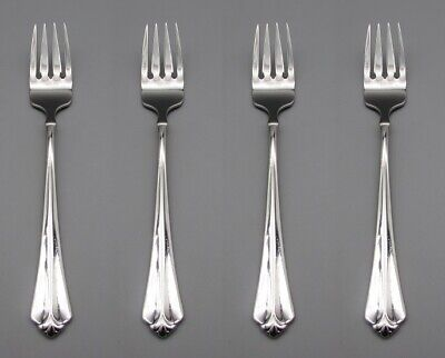 Oneida Stainless Juilliard Salad Forks - Set of Four * Made in USA