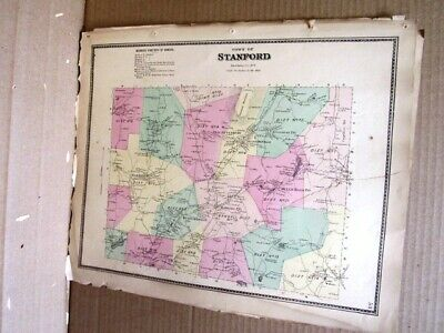1867 Town Stanford Map Dutchess Co. Ny Beers Atlas