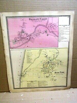 1867 Villages Plesant Valley Hyde Park Maps, Dutchess County Ny Beers Atlas