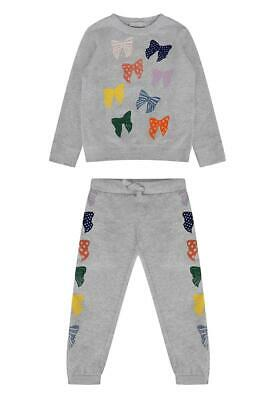 Stella Mccartney Kids Girls Bow Print Cotton Tracksuit 5 Years