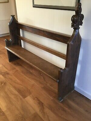 Beautiful Solid Oak Church Pew / Bench