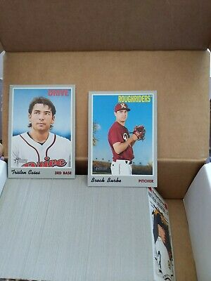 2019 Topps Heritage Minor League lot of 200