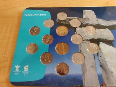 2010 Vancouver Canada Olympic & Paralympic Winter Games Coin Collection Set