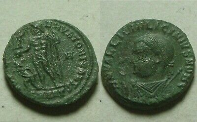 Licinius 2 globe scepter Jupiter victory captive Rare genuine Ancient Roman coin