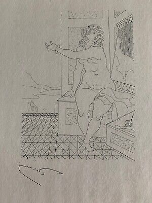 Andre Derain French Nude Female Figural Seated Woman Drawing Lithograph