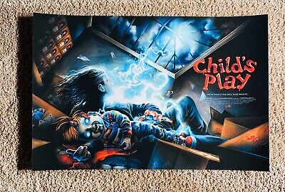 Jeremy Pailler CHILD'S PLAY (1988) 16x24 Art Print Poster (Chucky)