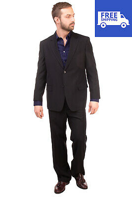 RRP €290 DOMENICO TAGLIENTE Suit Size 51 Black Single Breasted