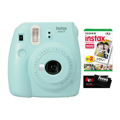 Fujifilm Instax Mini 9 (Ice Blue) w/ Instax Mini Film (20 Sheets)