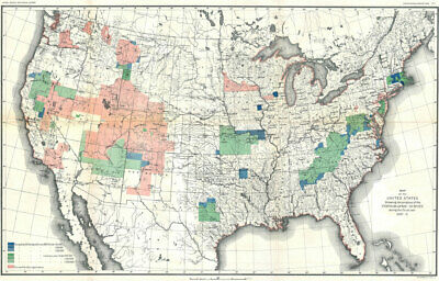 """24""""x36"""" Topographic Survey Map of the United States Geographicus -1888"""