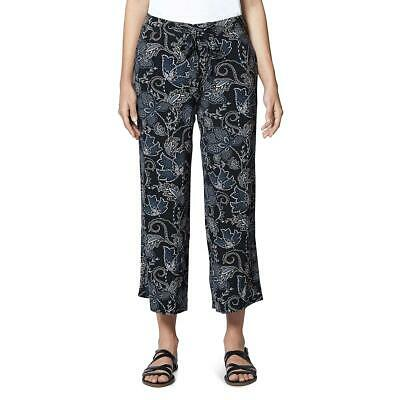 Sanctuary Womens Calypso Black Floral Print Cropped Wide Leg Pants 29 BHFO 6134