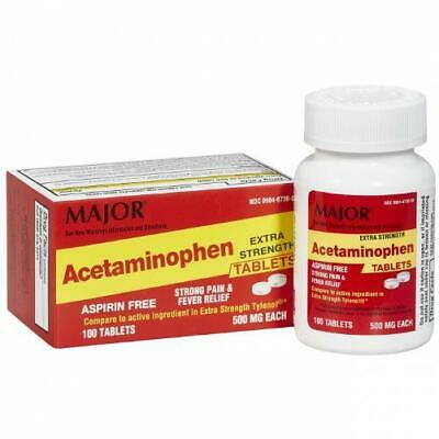 Major Acetaminophen Extra Strength Tablets 500mg - 100CT