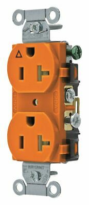 Bryant 20,  Commercial,  Isolated Ground Receptacle,  Orange,  No Tamper
