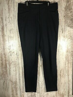 Ivanka Trump Dress Pants Women's Size 6 Dark Navy Blue Cropped Workwear EUC
