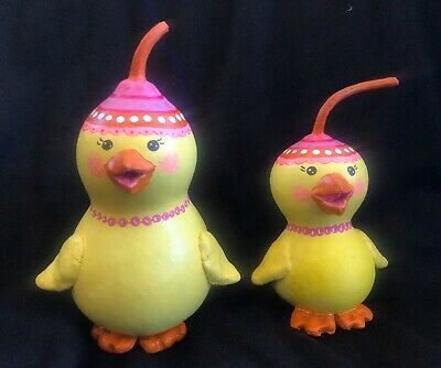 Hand Painted Easter Spring Chick NEW OOAK made in USA