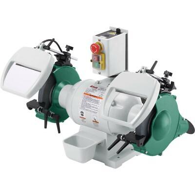 "Grizzly G0596 8"" 1 HP Heavy-Duty Bench Grinder"