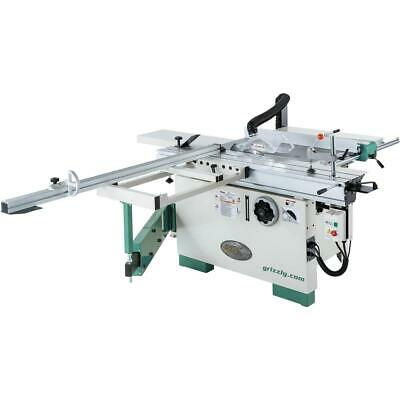 "Grizzly G0820 12"" 7-1/2 HP 3-Phase Compact Sliding Table Saw"