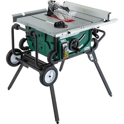 "Grizzly G0870 10"" 2 HP Portable Table Saw with Roller Stand"