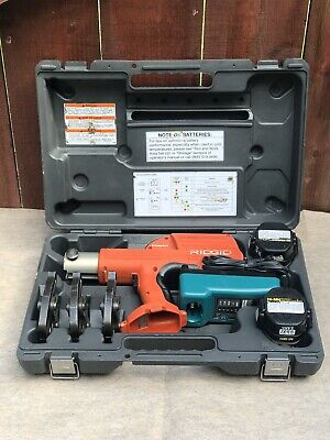 "RIDGID 100-B COMPACT Pro Press Tool Kit W/ 3 Press Jaws 1/2""- 3/4""- 1"""