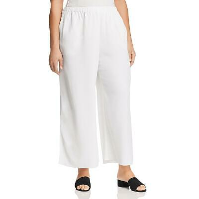 Eileen Fisher Womens White Tencel Pull On Ankle Pants Plus 3X BHFO 8383